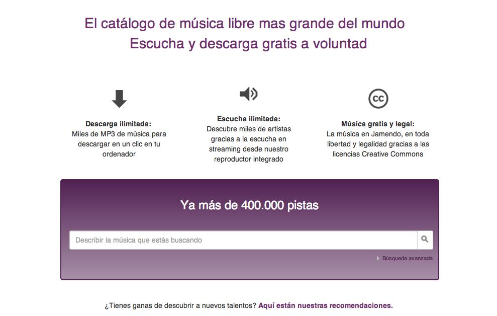 Cómo bajar música gratis en Jamendo