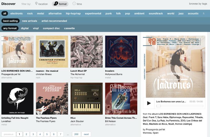 Descargar música de BandCamp gratis